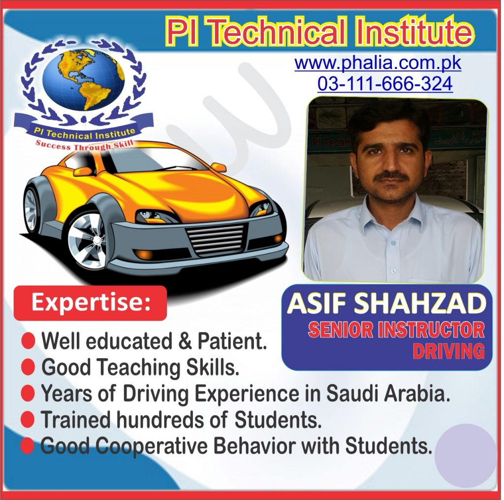 Senior and Experienceful Driving Instructor @PI Technical Institute